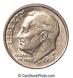 American one Dime coin