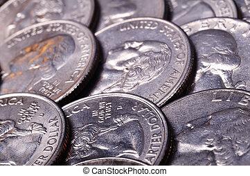 one quarter coins