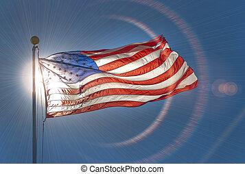 American or US flag