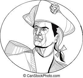 American Patriot Doodle Art - Doodle art illustration of an...