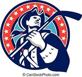 American Patriot Ice Hockey Stick Circle Retro -...