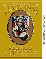 American Patriot Memorial Day Poster Greeting Card