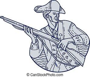 American Patriot Minuteman Rifle Mono Line - Mono line style...
