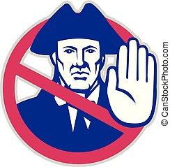 American Patriot Stop Sign Retro - Retro icon style...