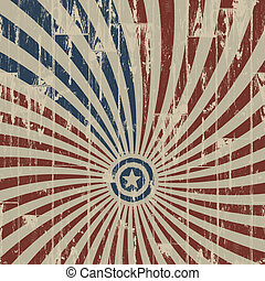 American patriotic abstract background on wooden texture. Vector illustration, EPS 10