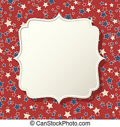 American patriotic background frame