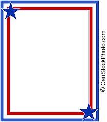 American Patriotic frame.