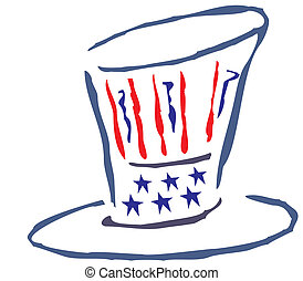 American Patriotic Hat
