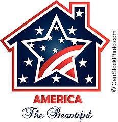 American patriotic house logo