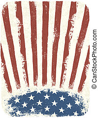 American patriotic poster background. Vintage style poster...