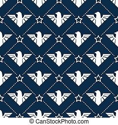 American patriotic seamless pattern