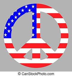 American Peace Pacific Symbol Vector illustration Eps 10