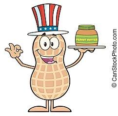 American Peanut Character