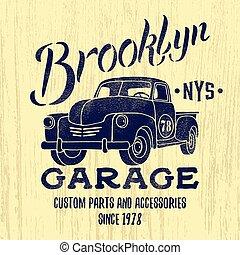 American pic up print design.