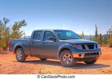 American Pickup Truck - Pickup truck in the Arizona Desert