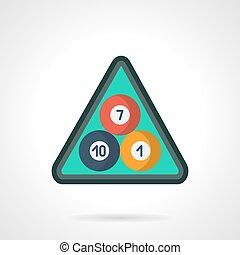 American pool balls flat color vector icon