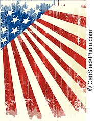 American poster - A dirty background with an american flag...