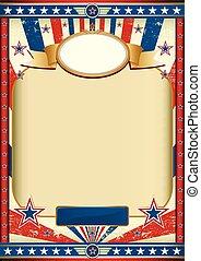 American poster retro