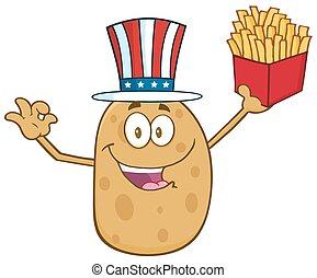 American Potato Character