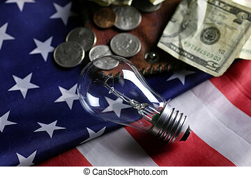 American power programm lamp coin money