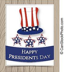 American President Day Card Design