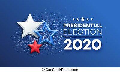 American Presidential Election 2020 background design. Vector illustration EPS10
