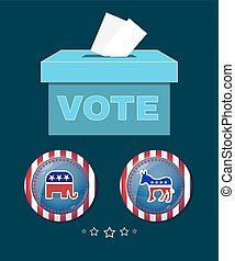 American Presidential Election Elephant versus Donkey Banner