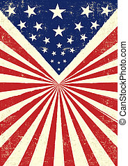 American retro - An American vintage flag with a texture
