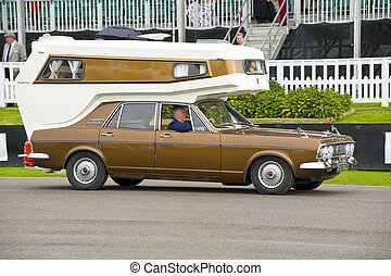 American retro car - Vintage american car, taken on...