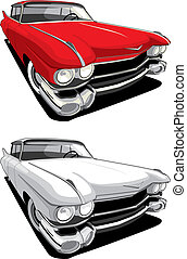 American retro car - vectorial image of retro car isolated...