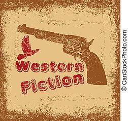 american retro gun vector art