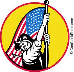American revolutionary soldier star
