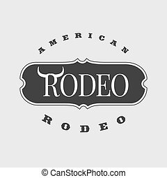 American rodeo vector template logo