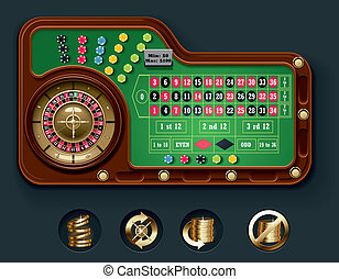 American roulette table layot - Detailed American roulette...