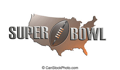 american rugby football superbowl with map - illustration of...