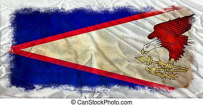 American Samoa grunge flag