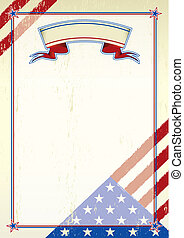 American scratched letter - A patriotic background for a...