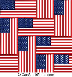 American seamless pattern