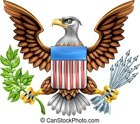 American Shield Eagle Design - American Eagle Design with...