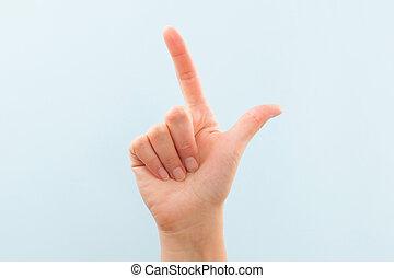 American sign language L. - American sign language. Female...