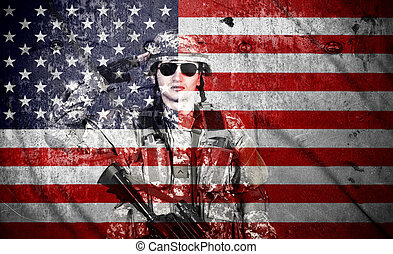 american soldier salutes - soldier salutes on a american...