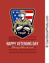 American Soldier Veterans Day Greeting Card - Greeting card...