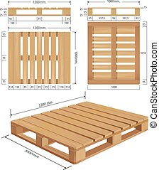 American standard pallet views - American wooden pallet in...