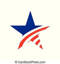 American Star Creative Symbol Design