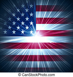 American star light - Abstract background USA flag with...