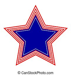 American star symbol  icon