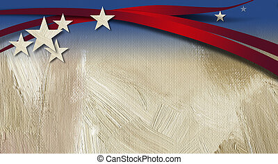 American Stars and Stripes Background - Graphic illustration...