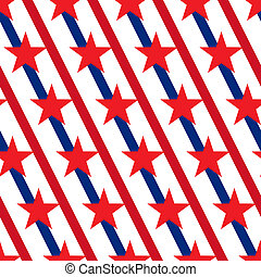 American stars and stripes seamless pattern Vector -...