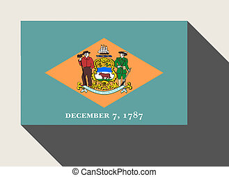 American State of Delaware flag