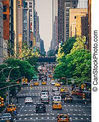 American street in New York